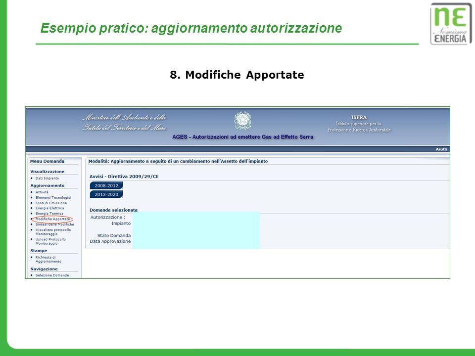 Esempio pratico: aggiornamento autorizzazione