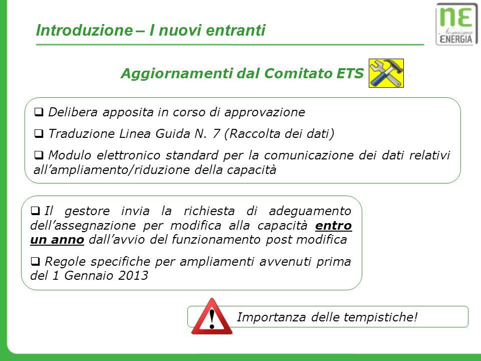 Aggiornamenti dal Comitato ETS