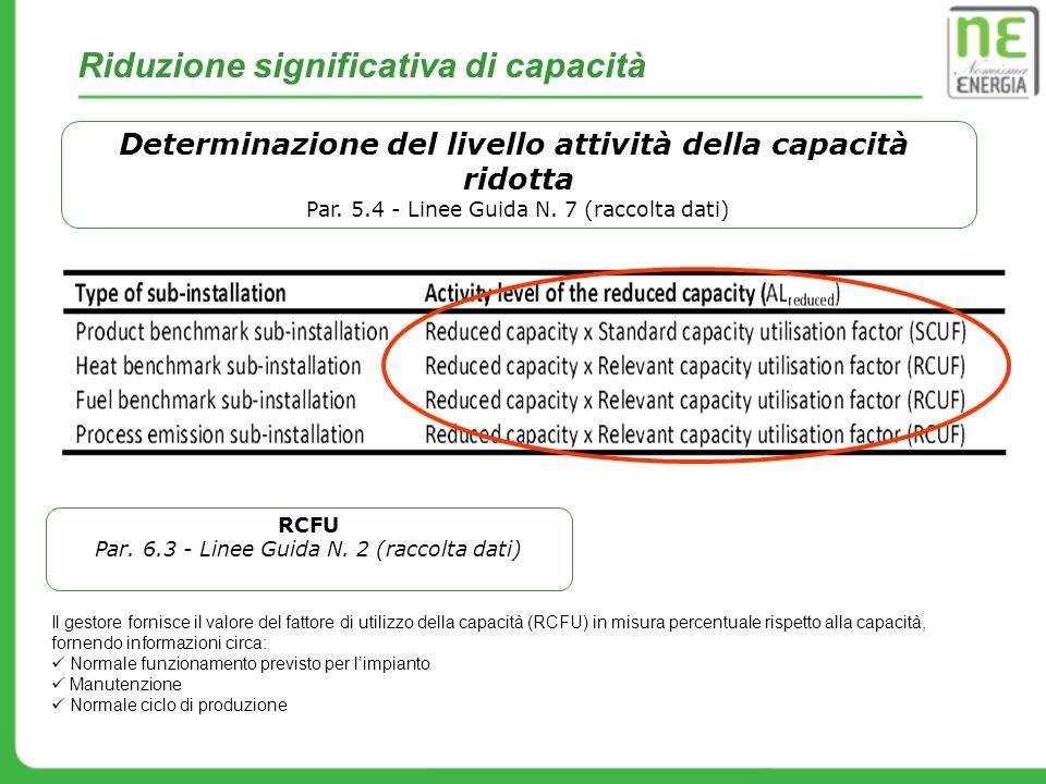 Determinazione del livello attività della capacità