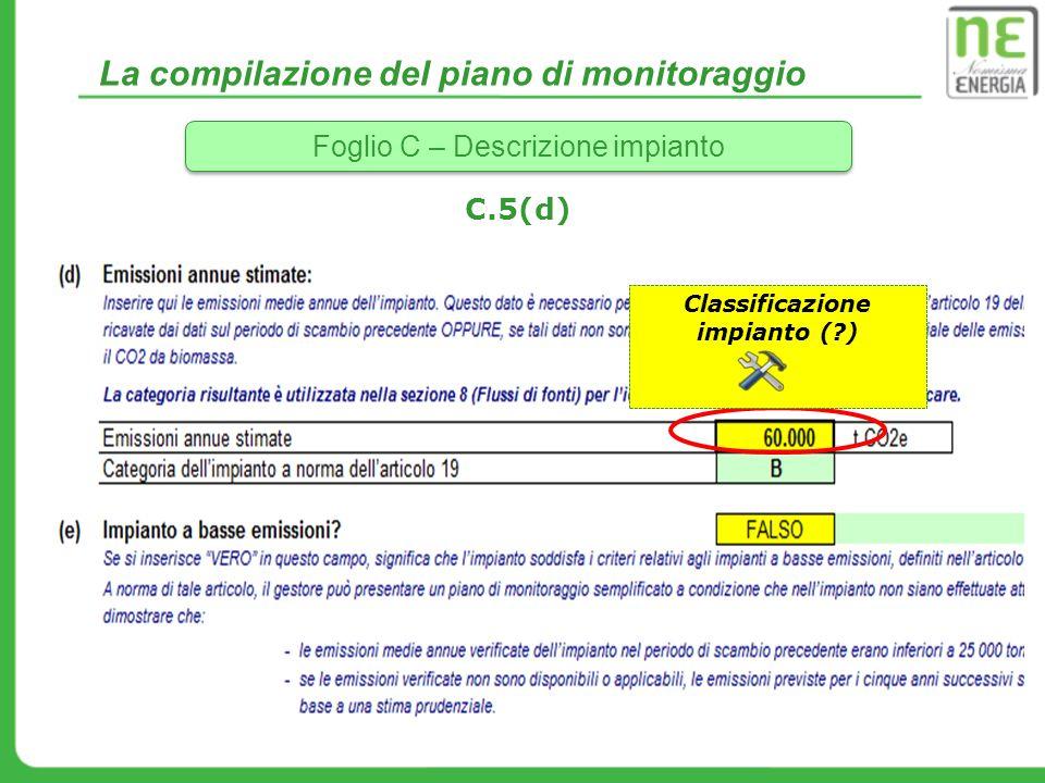Classificazione impianto ( )