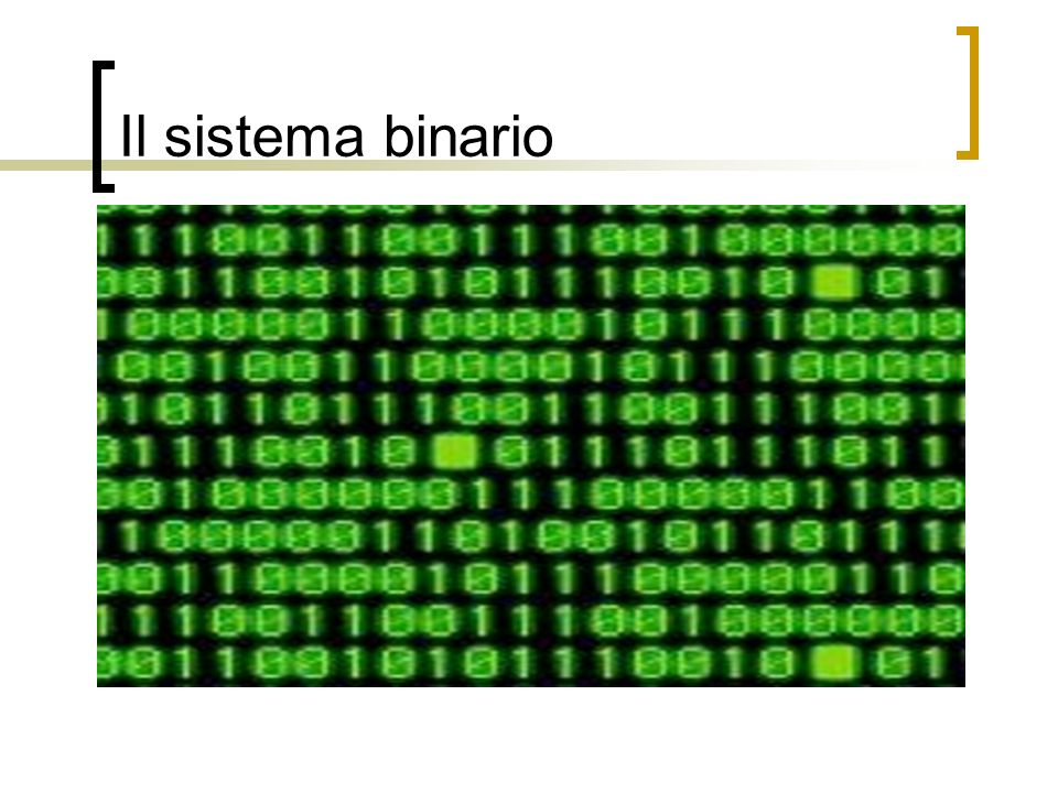 Codice binario e decimale