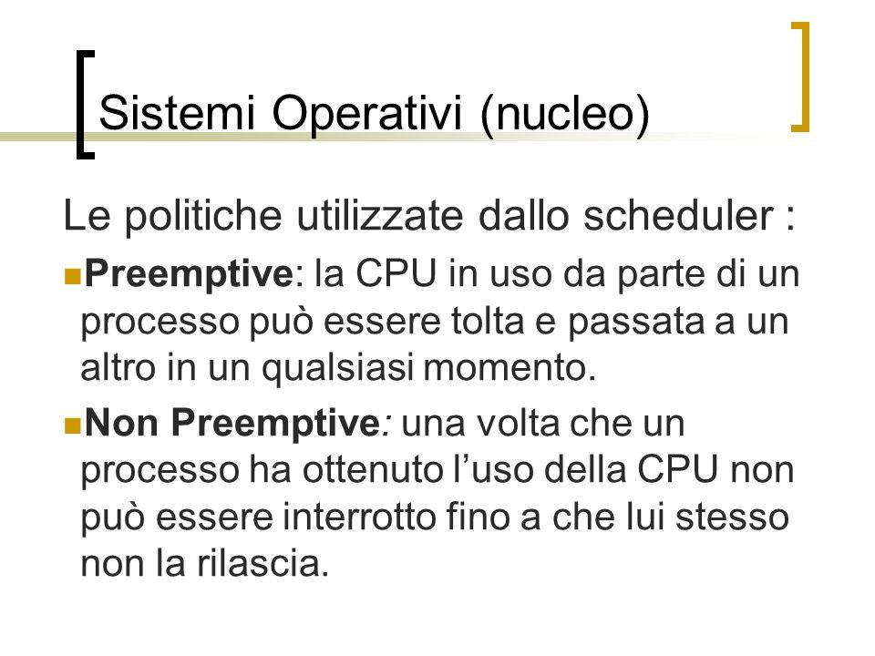 Sistemi Operativi (nucleo)