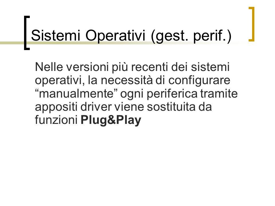 Sistemi Operativi (gest. perif.)