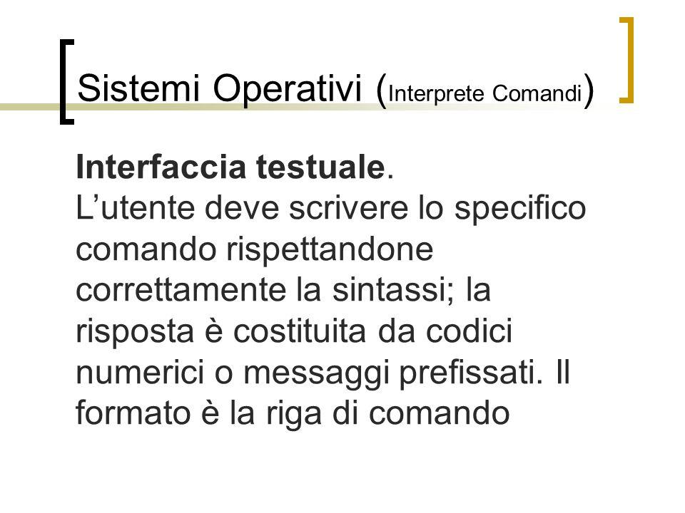 Sistemi Operativi (Interprete Comandi)