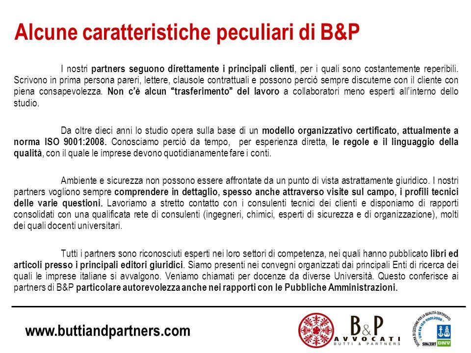 Alcune caratteristiche peculiari di B&P