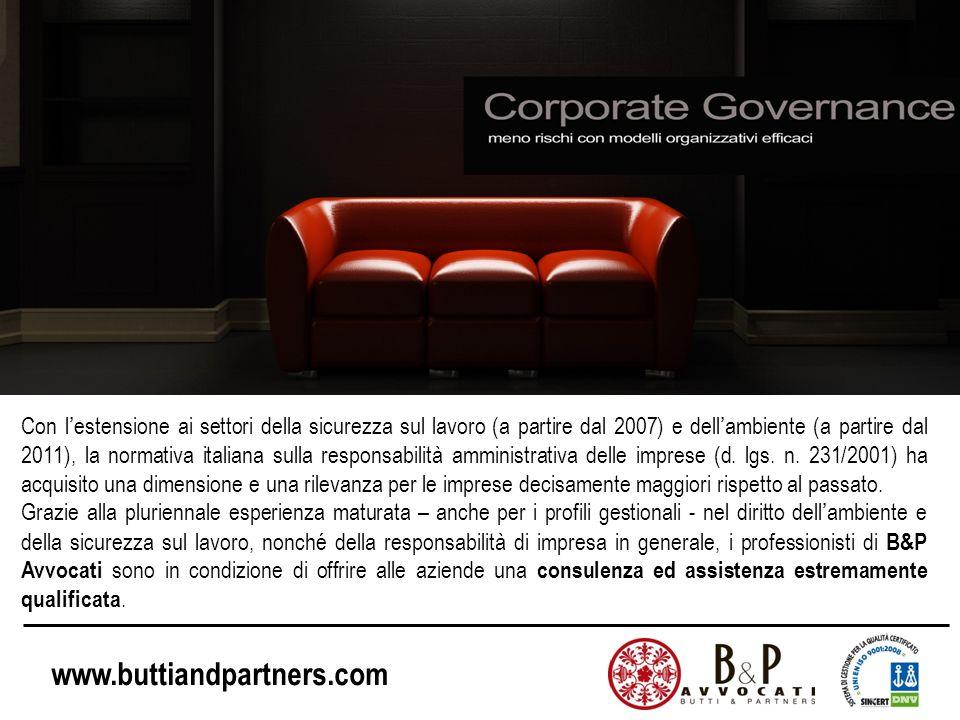 Con l'estensione ai settori della sicurezza sul lavoro (a partire dal 2007) e dell'ambiente (a partire dal 2011), la normativa italiana sulla responsabilità amministrativa delle imprese (d. lgs. n. 231/2001) ha acquisito una dimensione e una rilevanza per le imprese decisamente maggiori rispetto al passato.