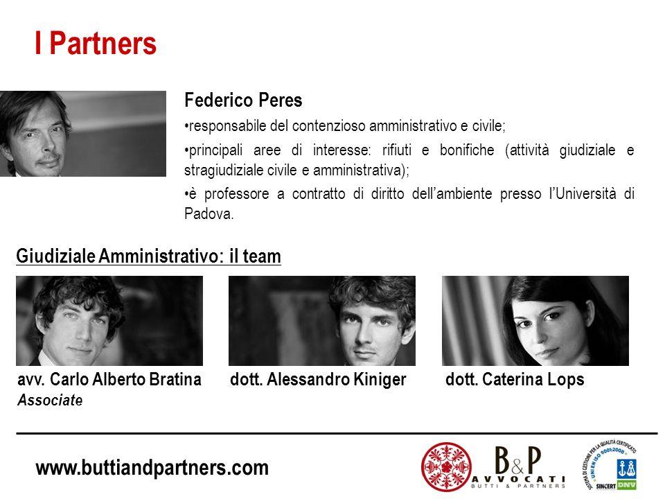 I Partners Federico Peres Giudiziale Amministrativo: il team