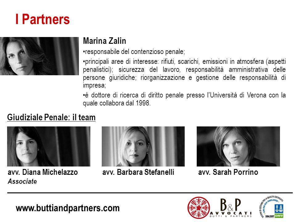 I Partners Marina Zalin Giudiziale Penale: il team
