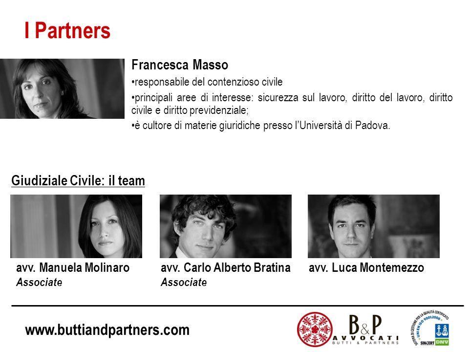 I Partners Francesca Masso Giudiziale Civile: il team