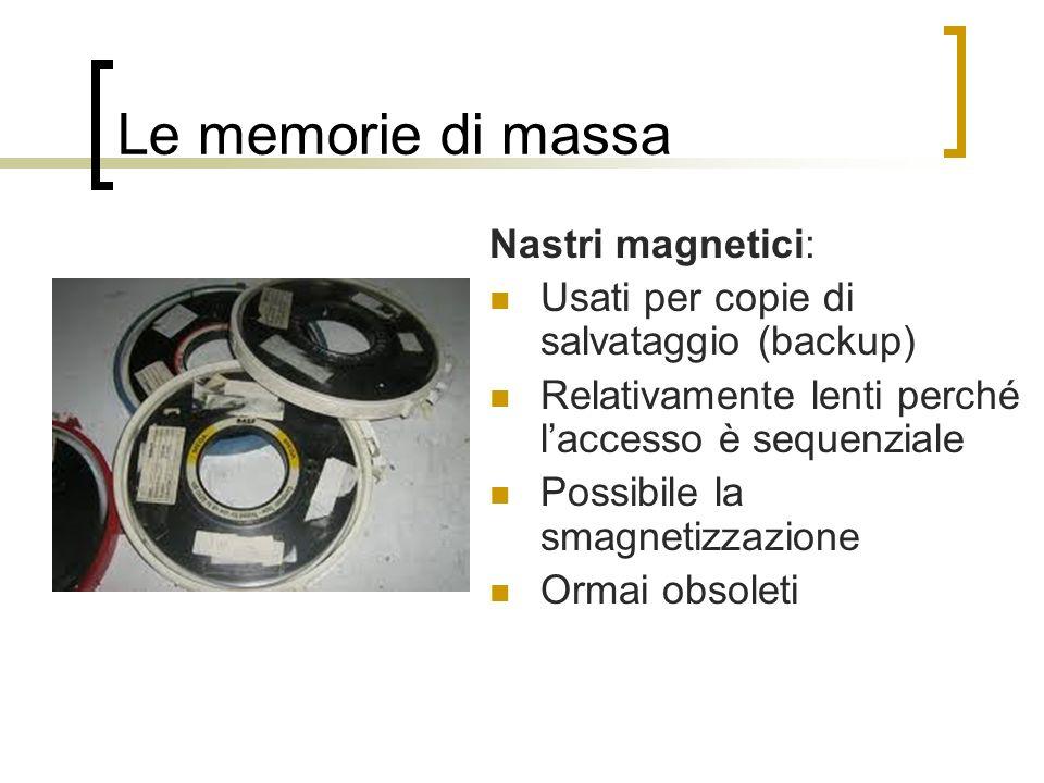 Le memorie di massa Nastri magnetici: