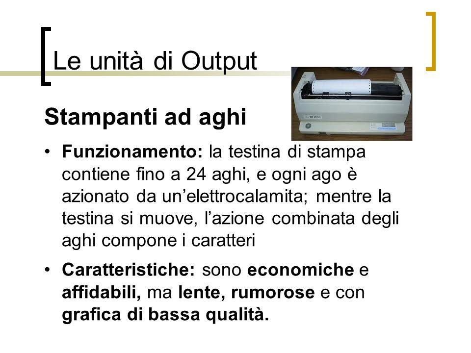 Le unità di Output Stampanti ad aghi