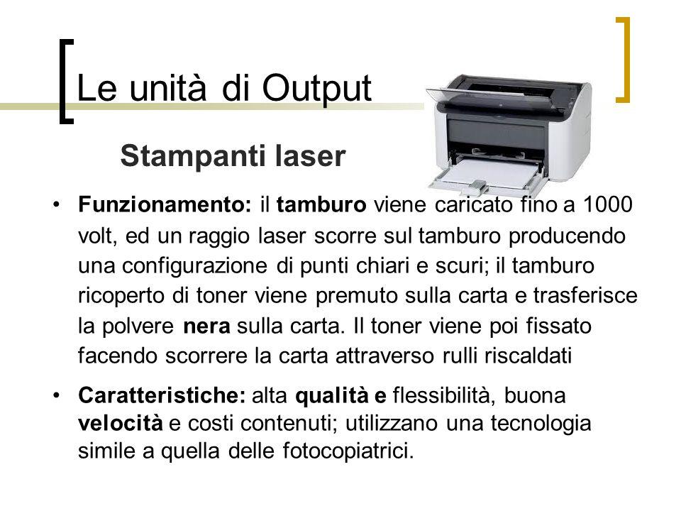 Le unità di Output Stampanti laser
