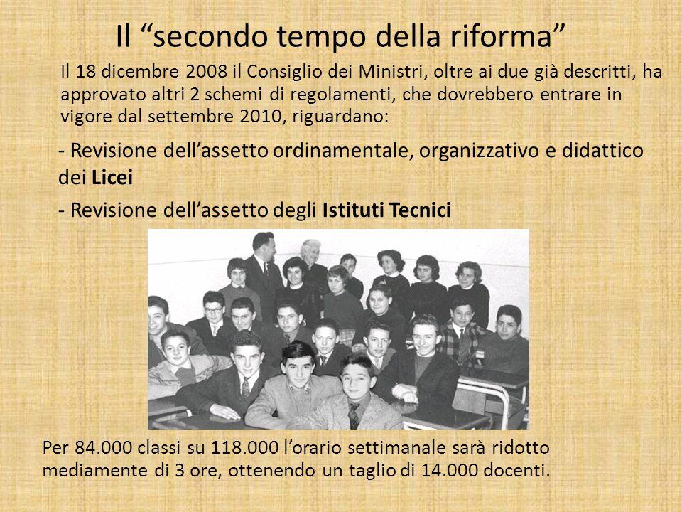 Il secondo tempo della riforma