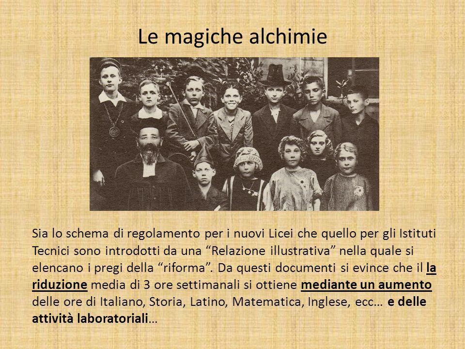 Le magiche alchimie