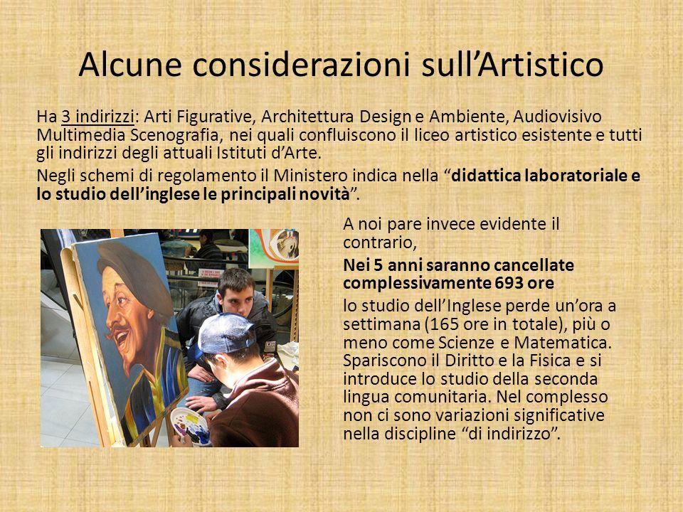 Alcune considerazioni sull'Artistico