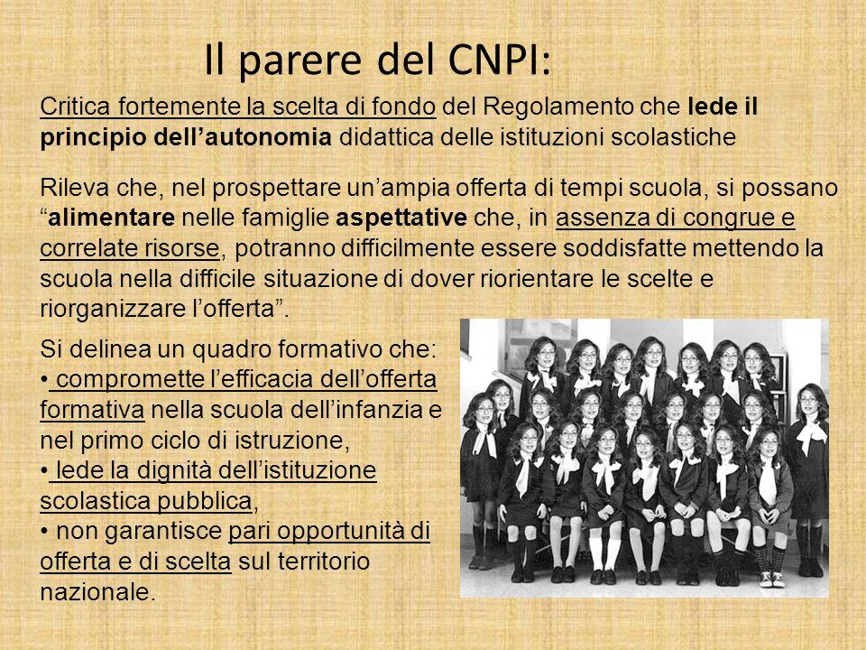 Il parere del CNPI:
