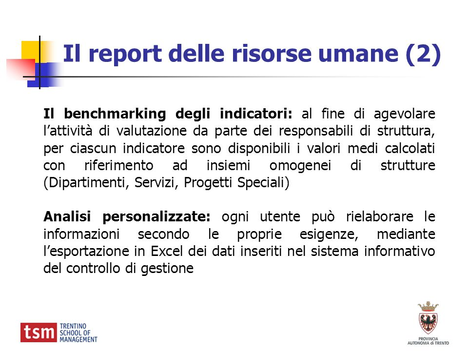 Il report delle risorse umane (2)
