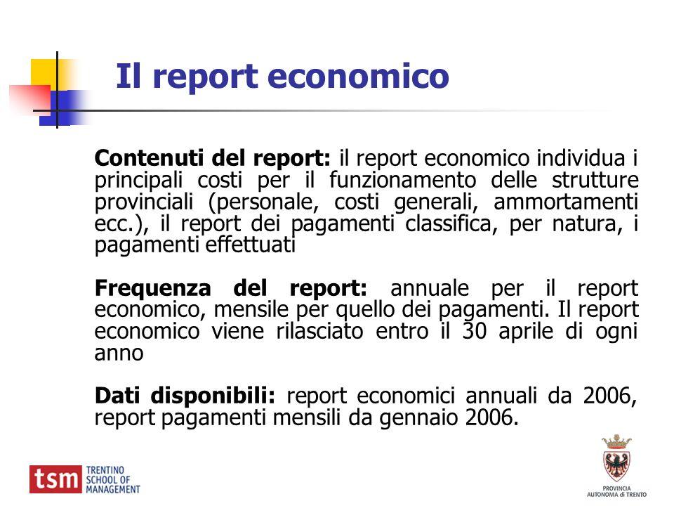 Il report economico