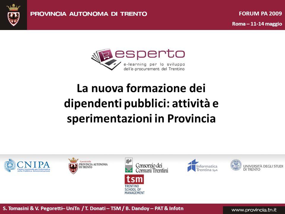La nuova formazione dei dipendenti pubblici: attività e sperimentazioni in Provincia