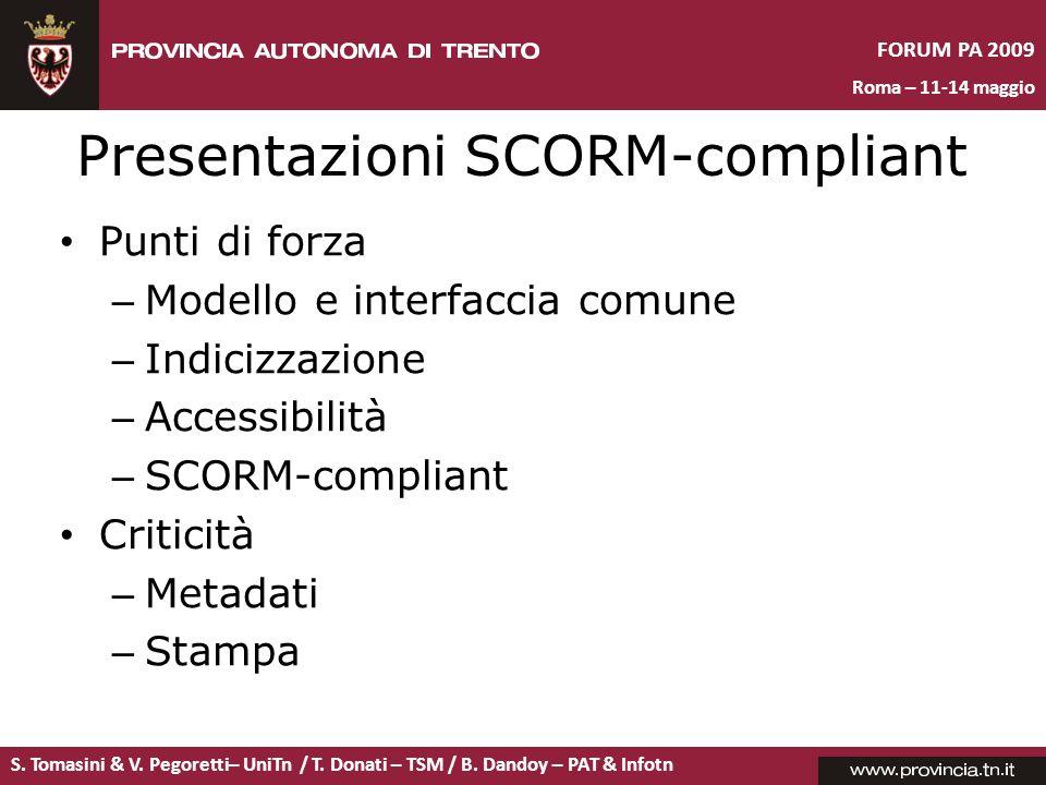 Presentazioni SCORM-compliant