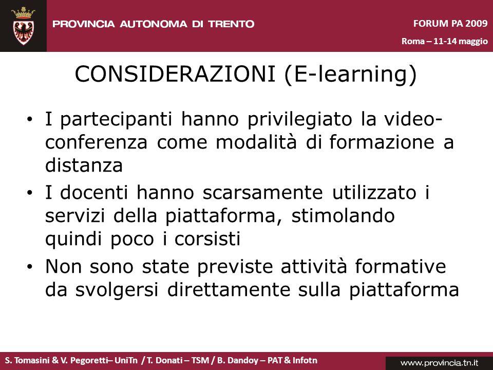 CONSIDERAZIONI (E-learning)