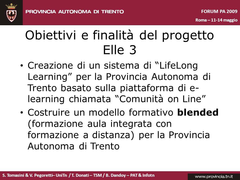 Obiettivi e finalità del progetto Elle 3