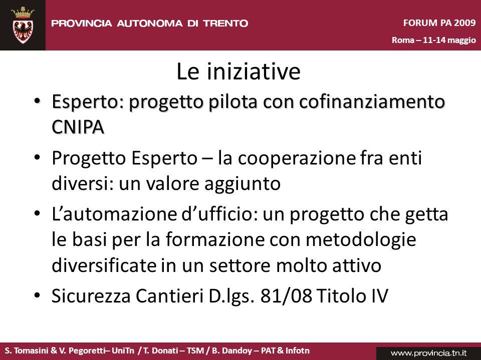 Le iniziative Esperto: progetto pilota con cofinanziamento CNIPA