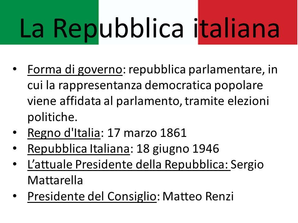 Lo stato italiano presente ppt video online scaricare for Repubblica parlamentare italiana