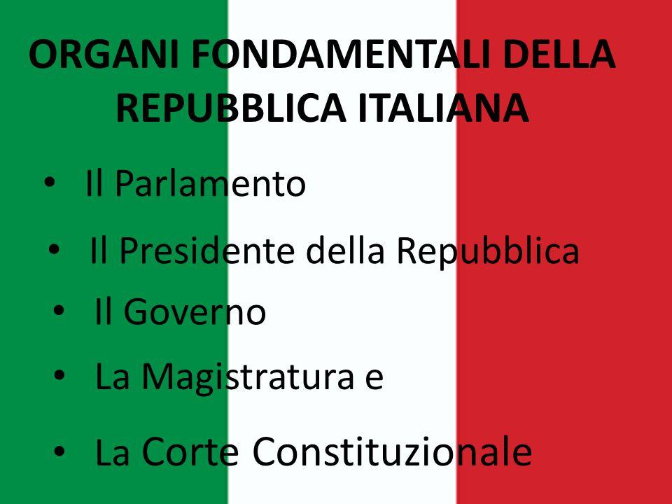 ORGANI FONDAMENTALI DELLA REPUBBLICA ITALIANA