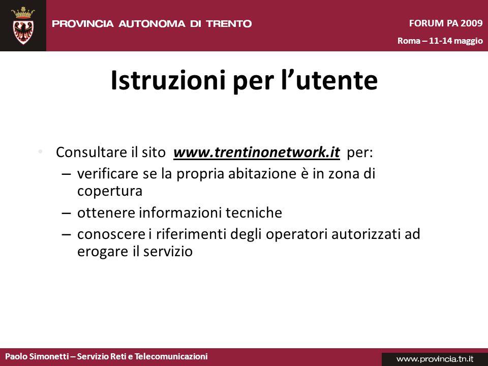 Istruzioni per l'utente