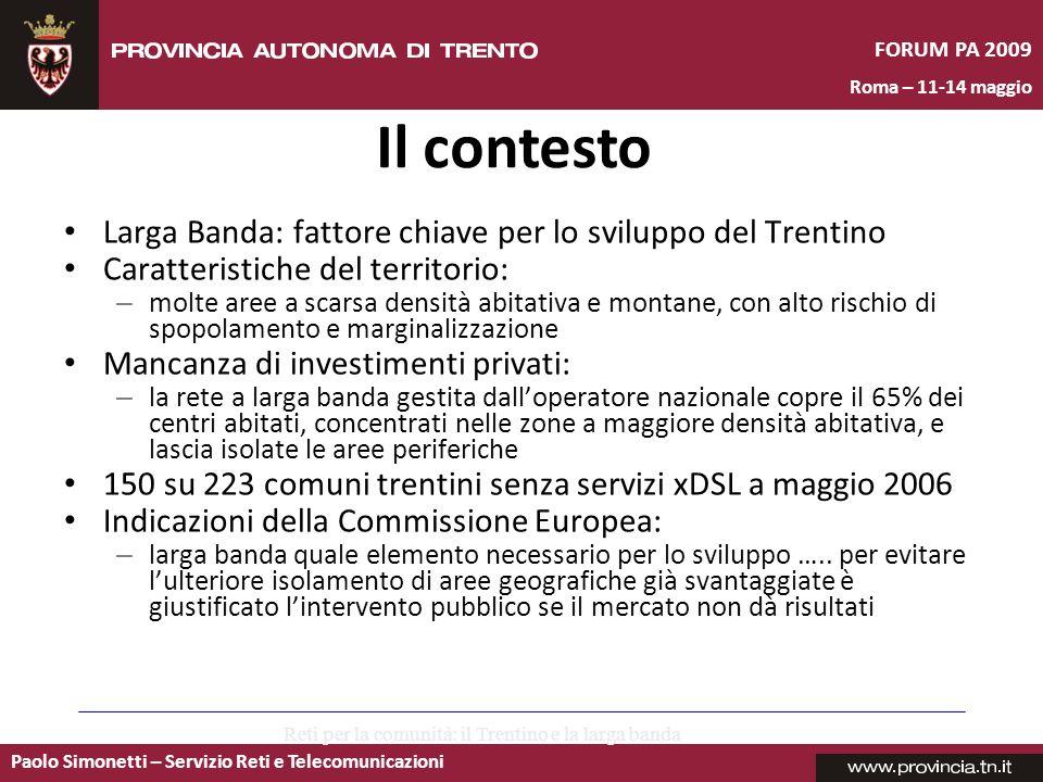 Reti per la comunità: il Trentino e la larga banda