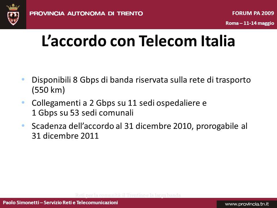 L'accordo con Telecom Italia
