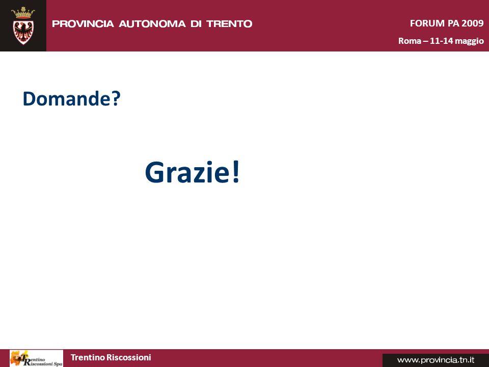 Grazie! Domande FORUM PA 2009 Roma – 11-14 maggio