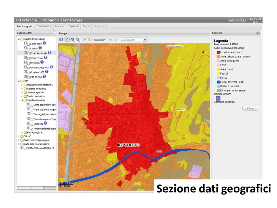 Sezione dati geografici
