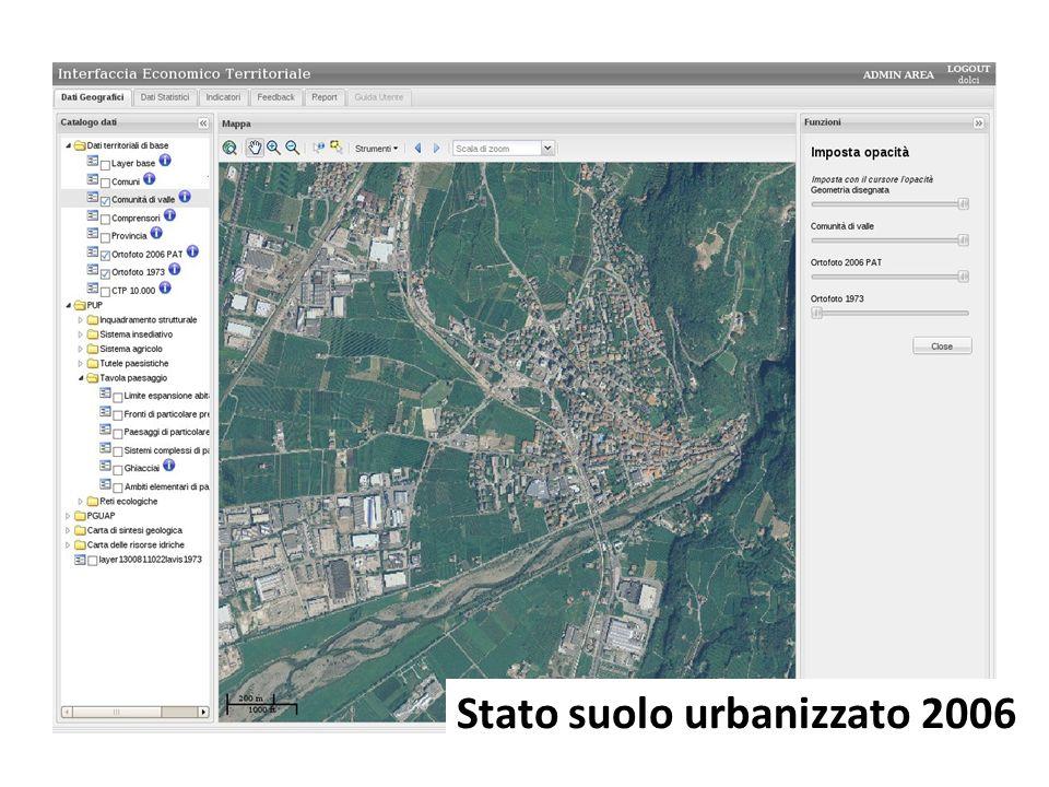 Stato suolo urbanizzato 2006