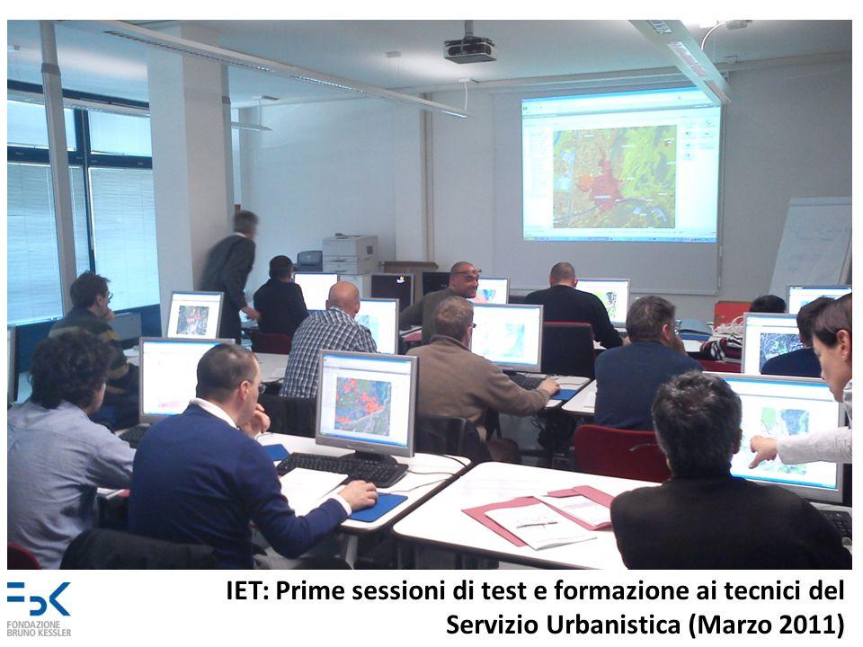 IET: Prime sessioni di test e formazione ai tecnici del Servizio Urbanistica (Marzo 2011)