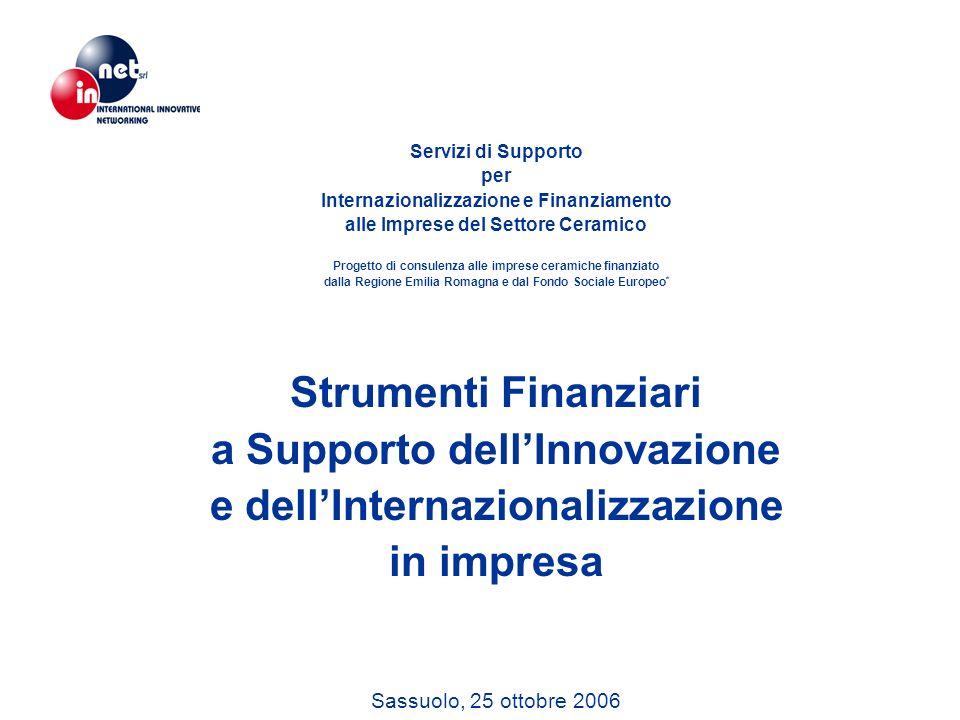 a Supporto dell'Innovazione e dell'Internazionalizzazione in impresa