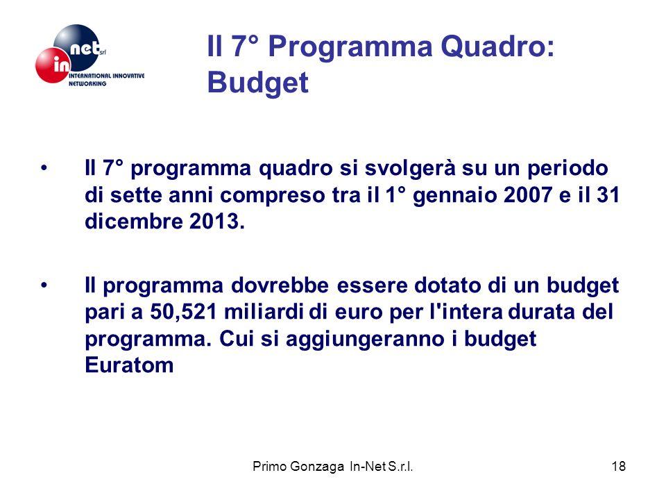 Il 7° Programma Quadro: Budget