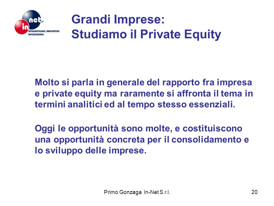 Grandi Imprese: Studiamo il Private Equity