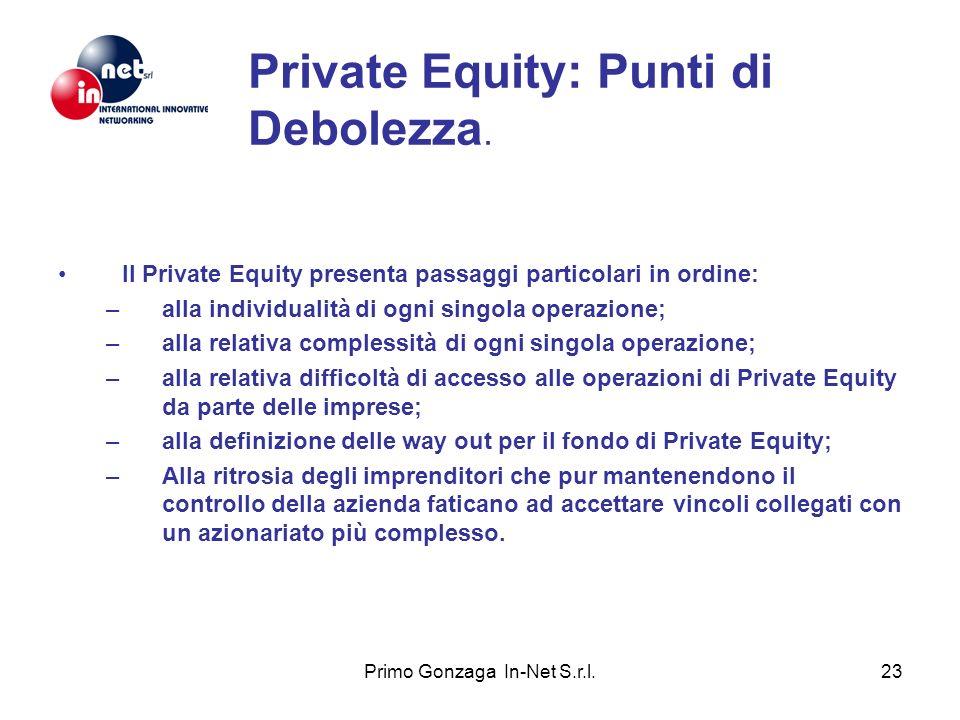 Private Equity: Punti di Debolezza.