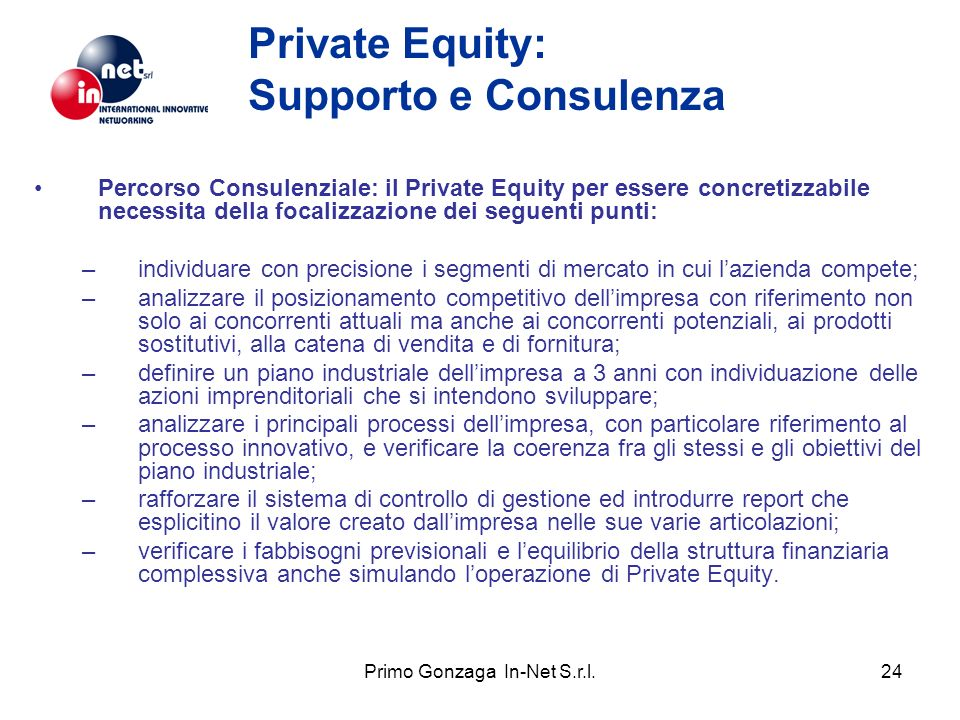 Private Equity: Supporto e Consulenza