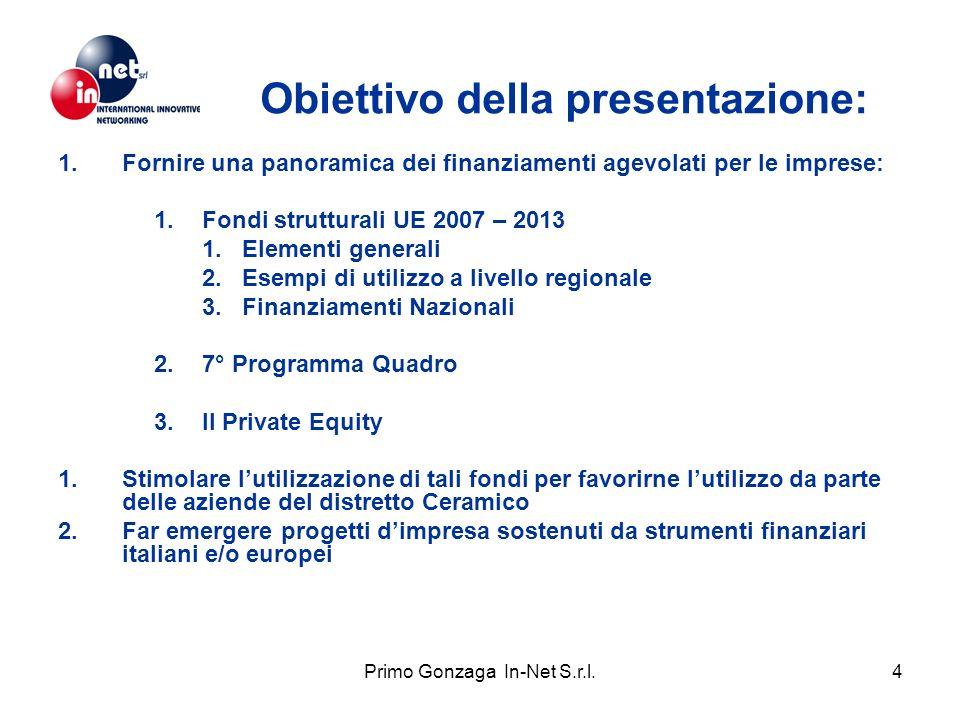 Obiettivo della presentazione: