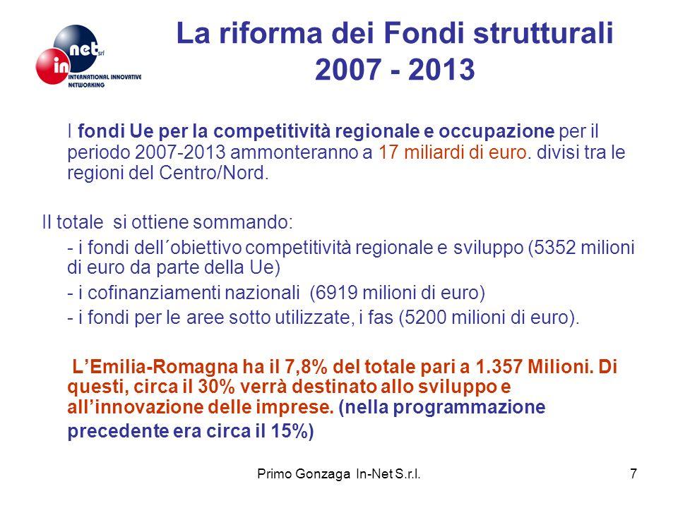 La riforma dei Fondi strutturali 2007 - 2013