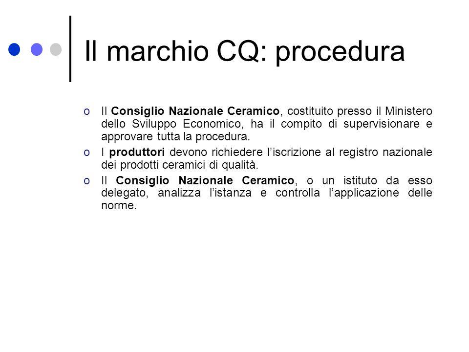 Il marchio CQ: procedura