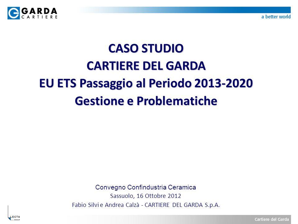 EU ETS Passaggio al Periodo 2013-2020 Gestione e Problematiche