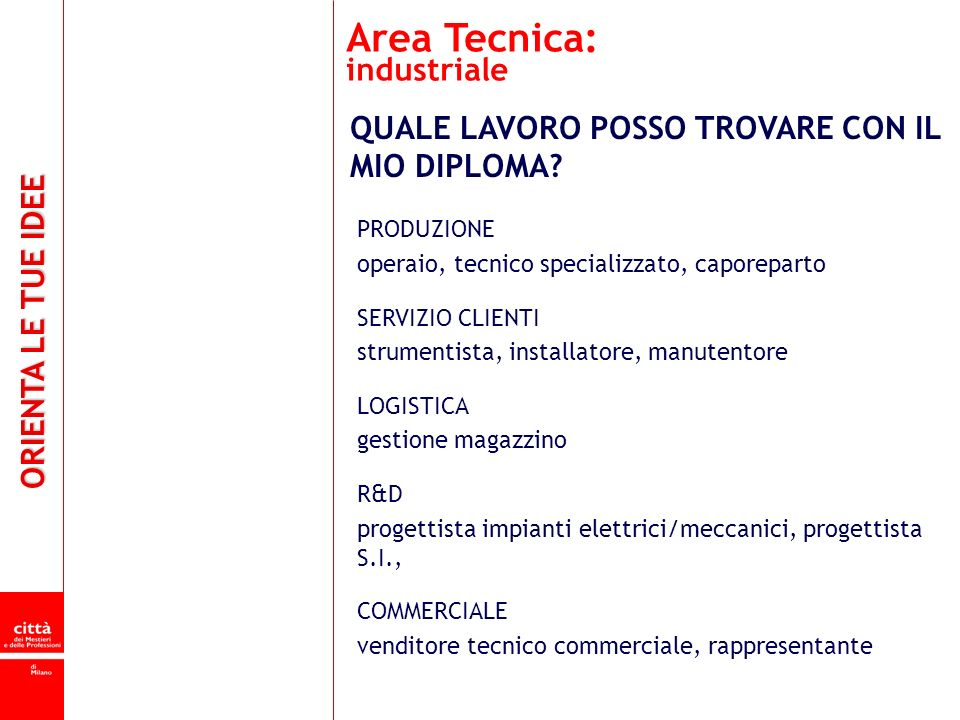 Area Tecnica: industriale