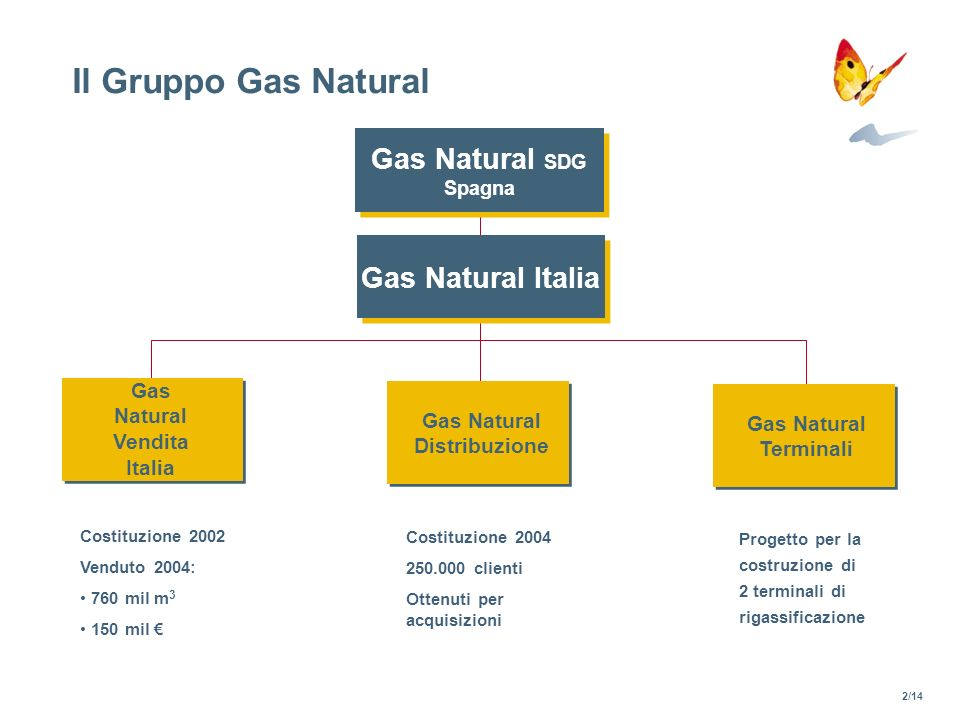 Gas Natural Vendita Italia Gas Natural Distribuzione
