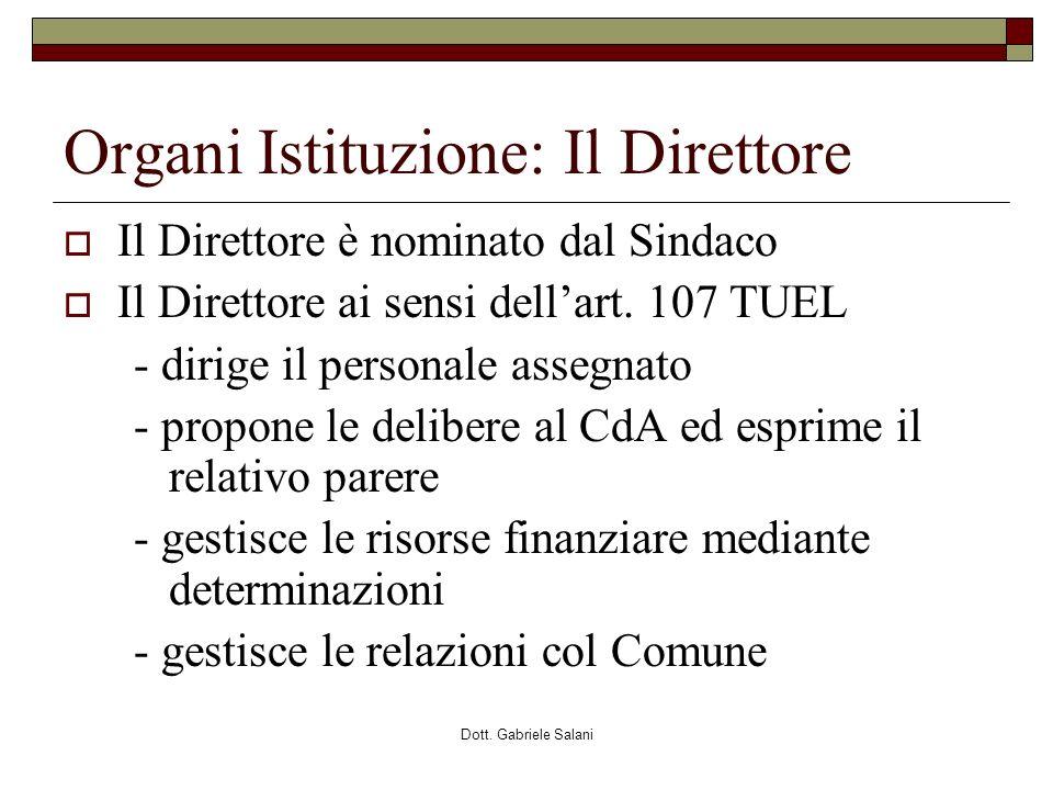 Organi Istituzione: Il Direttore