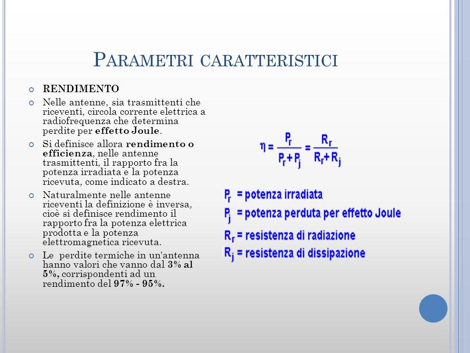 Parametri caratteristici