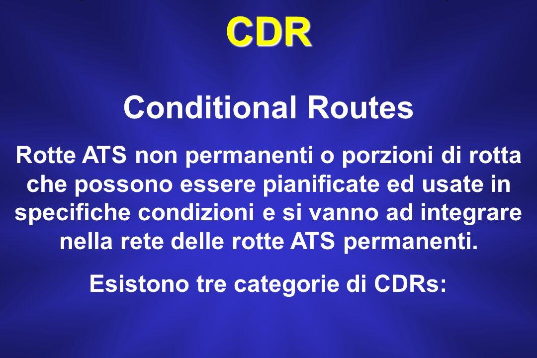 Esistono tre categorie di CDRs: